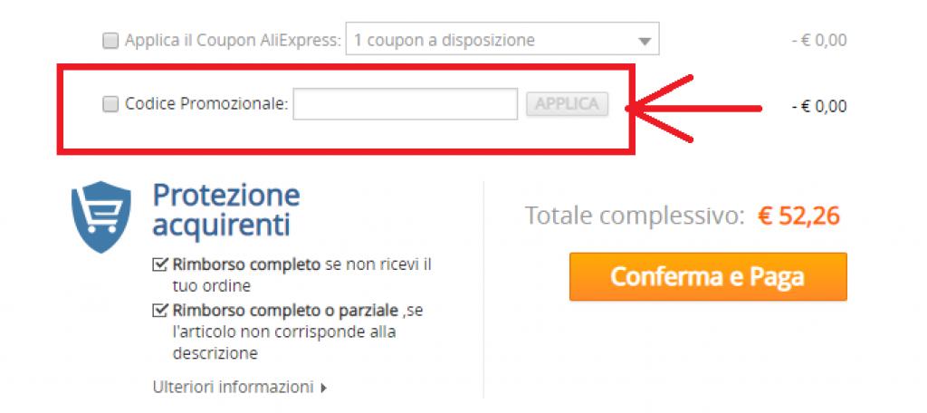 coupon aliexpress codice sconto